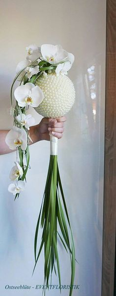 Orchid pearl ball bouquet