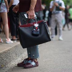 This week's #FendiStreetStyle pick features the men's #Fendi #Peekaboo and the latest backpack ...