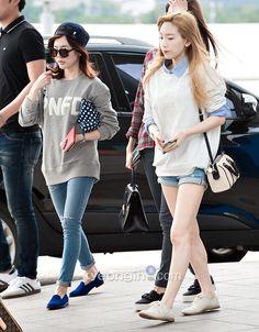 #sunny #taeyeon #snsd #airport fashion