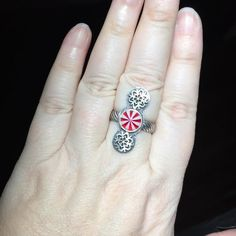 Im feeling super festive with this cute snowflake and mint ring.