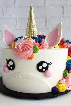 Unicorn Happy Birthday Wishes Cake With Your Name.Create Name On Birthday Wishes Cake.Cartoon Birthday Wishes Cake With Name.Best Birthday Cake Name Pix Editor Pretty Cakes, Cute Cakes, Beautiful Cakes, Amazing Cakes, Unicorn Birthday Parties, Unicorn Party, Unicorn Cakes, Cake Birthday, Unicorn Head Cake