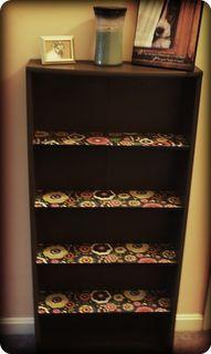 Garage sale book shelf makeover