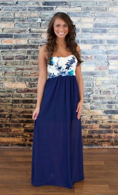 The Pink Lily Boutique - Meet Me In Paradise Maxi, $40.00 (http://thepinklilyboutique.com/meet-me-in-paradise-maxi/)