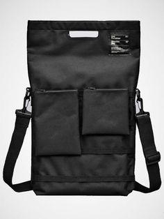 Black Laptop bag from swedish brand Unit Portables. $60 www.humanempiresh...