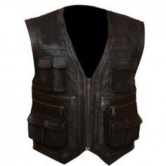 Jurassic World Chris Pratt Owen Grady Genuine Leather Vest