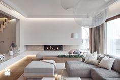 Dom w Gdańsku 2014 - Family Room Colors, Hall And Living Room, Bedroom False Ceiling Design, Modern Home Interior Design, Hall Design, Living Room Inspiration, Apartment Design, Living Room Interior, Home Deco