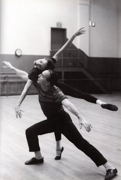 George Balanchine and Maria Tallchief, 1958. And if I'm not mistaken, that's my old ballet school classroom!