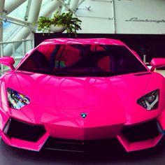 Bright pink Lamborghini
