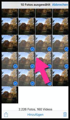 iPhone Fotos Viele gleichzeitig markieren Ipad, Tricks, Videos, Video Clip