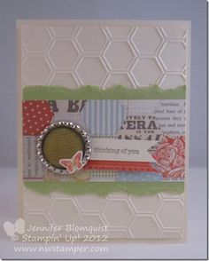 Smashed Bottle Cap/Soda Pop Top Spring Card