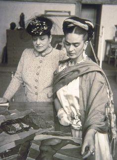 Frida Kahlo with Helena Rubinstein, 1930s