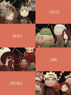 The tailed beasts and friends.... so cute.