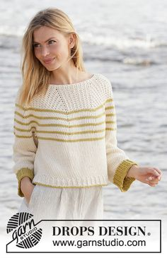Free knitting patterns and crochet patterns by DROPS Design Drops Design, Knitting Patterns Free, Free Knitting, Free Pattern, Crochet Patterns, Drops Paris, Knitting Gauge, Summer Knitting, Labor
