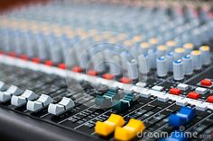 Photo about Part of an audio sound mixer with buttons and sliders . A little of DOF. Image of europe, detail, italian - 70821264 Audio Sound, Sliders, Mixer, Buttons, Stock Photos, Detail, Photography, Image, Photograph