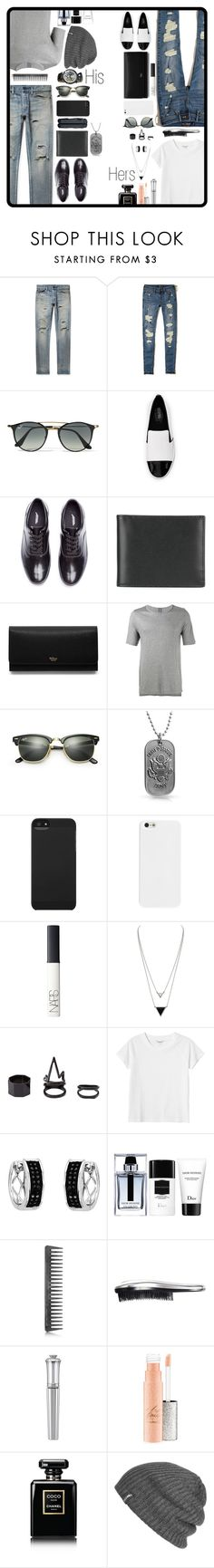 """His and Hers"" by darksyngr ❤ liked on Polyvore featuring John Elliott, Corum, Hollister Co., Ray-Ban, MICHAEL Michael Kors, Undercover, Ettinger, Mulberry, Lot78 and Bling Jewelry"