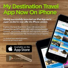 My Destination Travel App is now both available on iPad and iPhone! http://myde.st/1q3G