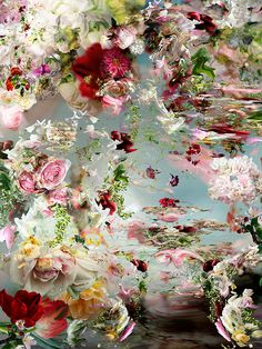 """""""Paradise as something"""" (painted photography) by Isabelle Menin"""
