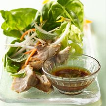 lettuce-wrapped asian chicken -Photography by Dennis Becker