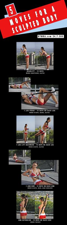 5 Moves For A Sculpted Body - Total Body Resistance Band Workout. #tone