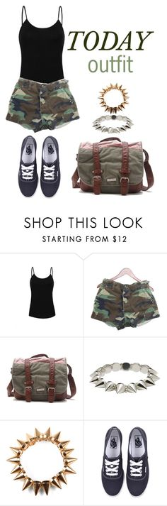 """""""Army test... Challenge accepted:!"""" by maumauxz ❤ liked on Polyvore featuring MANGO, Roxy, CC SKYE, Bowie and Vans"""