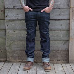 We've got a lot of great riding pant options in at the shop these days. These Resurgence Gear Armoured Riding pants have a great classic straight leg fit and look like a pair of selvedge denim jeans. Pair that with its 12oz selvedge denim construction, double-layered with Pekev and hip & knee armour and you've got a pretty killer pair of riding jeans. Motorcycle Riding Gear, Motorcycle Jeans, Moto Jeans, Denim Jeans, Best Armor, Slim And Fit, Riding Pants, Jeans For Sale, Black Jeans