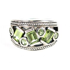 Sterling And Crystal Ring