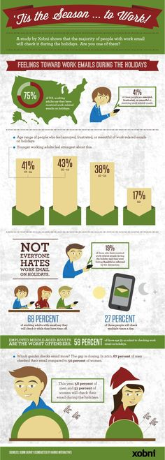 Tis the Season to Check Email #workplace #productivity #email #holidays