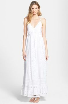 MICHAEL Michael Kors Eyelet Cotton Maxi Dress available at #Nordstrom
