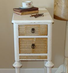 Reini Days over on Washington Street: Friday Favorites ~ Book Page Crafts & Ideas Recycled Furniture, Ikea Furniture, Furniture Making, Furniture Makeover, Furniture Ideas, Furniture Refinishing, Painting Furniture, Book Page Crafts, Vintage Nightstand