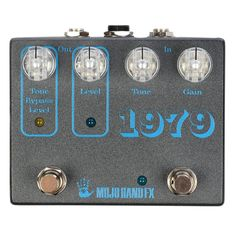Mojo Hand FX 1979 Fuzz CME Exclusive Graphite w/ Clear Knobs from Chicago Music Exchange