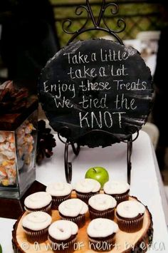 Wedding treat table