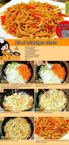Obtain Chinese Meat Recipe Good Food, Yummy Food, Tasty, Pasta Recipes, Vegan Recipes, Mind Diet, Hungarian Recipes, Meals For The Week, No Cook Meals