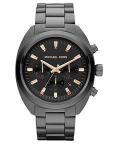 Michael Kors Watch, Men's Chronograph Gunmetal Tone Stainless Steel Bracelet 48mm MK8276 - All Watches - Jewelry & Watches - Macy's
