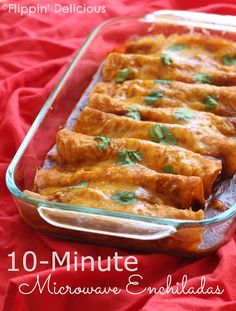 Microwave Enchiladas   23 Dorm Room Meals You Can Make In A Microwave