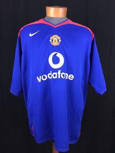 MANCHESTER UNITED NIKE Blue Away Jersey 2005-2007 XXL Barclay Football #Nike #ManchesterUnited