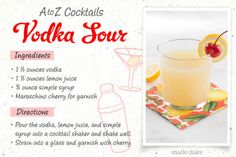 Vodka Sour Drink Recipe