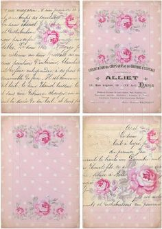 INSTANT DOWNLOAD diGiTAL DoWnLOAds ShaBBY ChIc POsTcArDs by bitmap, $4.25