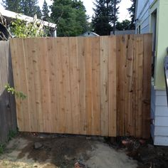 Cedar fence with hidden gate