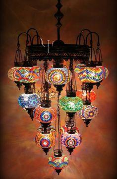 Mosaic Chandelier  --yurdan.com--     **beautiful*