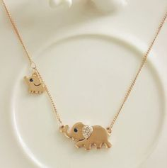 Cute Necklace for the Elephant Lover! This adorable little thing will not only look gorgeous on you, and it'll also express your love and passion for these noble creatures. Looking for a matching ankl