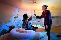 The New Experience in Arnhem offers an inspiring adventure for multi disabled people based on all kinds of sensory stimulation: light, sound, colour, movement, the element of play. Photography (c) Mike Bink.
