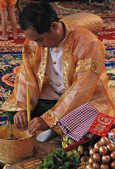 Preparations for a wedding . Cambodia