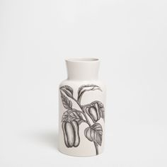 VASE WITH A LEAVES TRANSFER