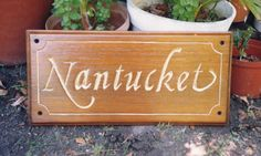 Home Wooden Signs, House Signs, Wooden House, Nantucket, Toy Chest, Hand Carved, Carving, Rustic, Home Decor