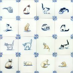 Mug Designs, Cool Designs, Thrift Shop Finds, Delft Tiles, Clay Tiles, Decorative Items, Dutch, Blue And White, Hand Painted