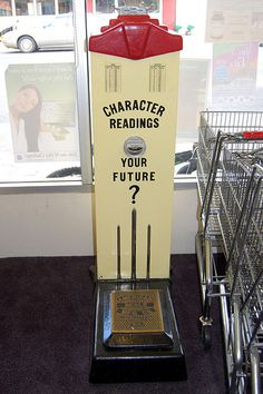 penny fortune telling scale. There was one of these in the drug store in Newberg--never did get to see my fortune.