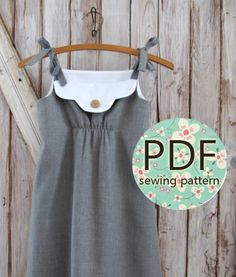 "Annie - ""Annie"" Play Date Dress PDF Pattern $.  Miss J would look uhh-mazing in this.  I love it!"