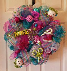 Bright  & Cheery Blue Pink and White Holiday by AnySeasonAnyReason. Shop at www.etsy.com/shop/AnySeasonAnyReason