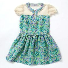 Puff Sleeve Floral Dress - Peace Of Cake - Events