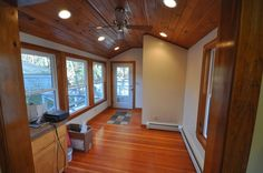 SoPo Cottage: Craftsman Bungalow: Kitchen and Breakfast Room the Before and After. Vaulted wood ceiling and wood trim.